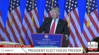Download Full Speech: President-Elect Donald Trump Holds Press Conference at Trump Tower 1/11/17 Video