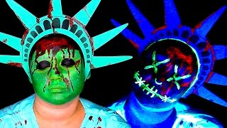 Download THE PURGE GLOWING LIBERTY MASK MAKEUP TUTORIAL! Video