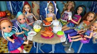 Download THANKSGIVING Celebration ! Elsa & Anna toddlers - Turkey - Food Video