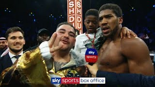 Download Andy Ruiz Jr interrupts Anthony Joshua interview to demand THIRD fight following rematch defeat! Video