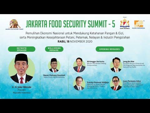 JAKARTA FOOD SECURITY SUMMIT 5 - COVID-19, MOMENTUM UNTUK MENDUKUNG PETANI, PETERNAK DAN NELAYAN