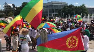 Download Ethiopians rally in Switzerland, Geneva in support of PM Abiy Video