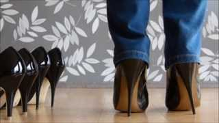 Download High, Higher or Highest - Patent Black Stiletto Heels Video