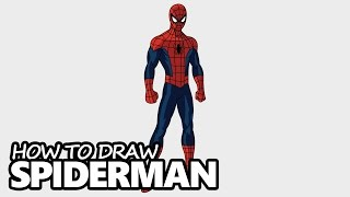 Download How to Draw Spiderman - Easy Step by Step Video Lesson Video