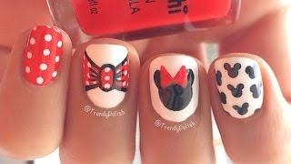 Download Disney Minnie Mouse Inspired Nail Art Video