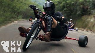 Download Trike Drifting - Bombing Mountains on Adult Big Wheels! Video