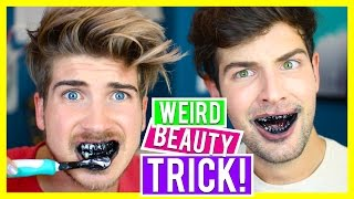 Download TESTING WEIRD BEAUTY PRODUCTS! TEETH WHITENING Video