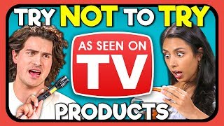 Download YouTubers React To Try Not To Try Challenge - As Seen On TV Products Video