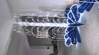 Download Outdoor 3D fountain light led Christmas motif light led street decoration light Video