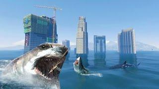 Download GTA 5 TSUNAMI MOD vs. 100 SHARKS (GTA 5 Mods) Video
