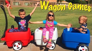 Download 3 Kid Choo Choo Wagon Games! Wonder Women Toys at The Park & Kids Playing Ball in The House Video
