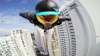 Download GoPro Awards: Wingsuit Flight Between Skyscrapers with Brandon Mikesell Video