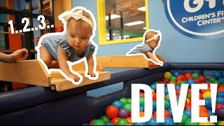 Download BABIES DIVE INTO BALL PIT HEAD FIRST!!! Video