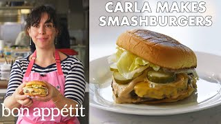 Download Carla Makes BA Smashburgers | From the Test Kitchen | Bon Appétit Video
