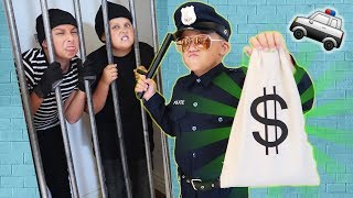 Download 🚓 KID COP vs ROBBERS STEAL A MILLION DOLLARS! Family Friendly COPS AND ROBBERS GAME For Kids! Video