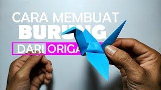 Download cara membuat burung dari kertas origami dengan mudah Video