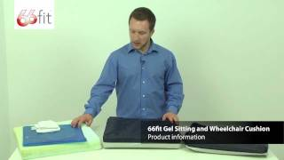 Download Sitting and Wheelchair Gel Cushion - 66fit Video