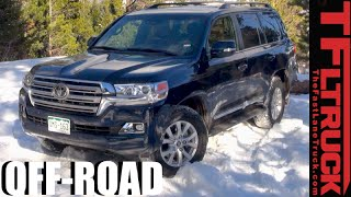 Download 2016 Toyota Land Cruiser Real World MPG Test & Snowy Off-Road Review Video
