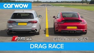 Download Porsche 911 GTS vs Audi RS4 - DRAG RACE, ROLLING RACE AND BRAKE TEST Video