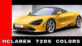 Download McLaren 720S Colors Video
