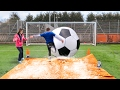 Download GIANT FOOTBALL SLIP 'N' SLIDE vs MY MUM Video