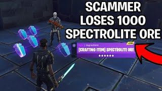 Download Scammer With 1000 Spectrolite Ore Scams Himself! (Scammer Get Scammed) Fortnite Save The World Video