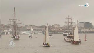 Download Parade du départ des vieux voiliers après Bordeaux Fête le Vin 2018 Video