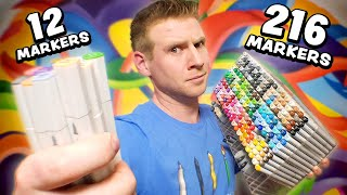 Download 12 Markers Vs. 216 COPICS!? - Can they Keep Up? Video