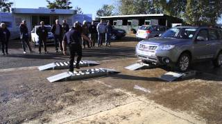 Download Live demonstration of Subaru Forester and Outback's 4x4 symmetrical all wheel drive system Video