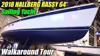 Download 2018 Hallberg Rassy 64 Sailing Yacht - Walkaround - 2018 Boot Dusseldorf Boat Show Video