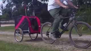 Download Review of our new pet/dog trailer/carrier used on a rocky, dirt road. The maiden voyage! Video