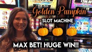 Download MONSTER WIN on Golden Pumpkin Slot Machine! What a Surprise! Video
