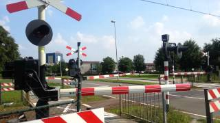 Download Spoorwegovergang Emmen // Dutch railroad crossing Video