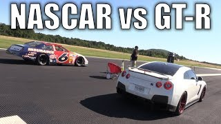 Download NASCAR takes on a GT-R, Porsche, Roush Mustang Video