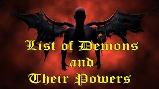 Download List of Demons and Their Powers Video
