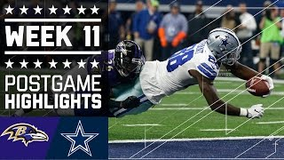 Download Ravens vs. Cowboys | NFL Week 11 Game Highlights Video