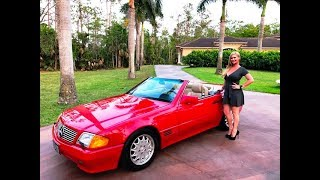 Download SOLD! 1991 Mercedes Benz SL 500 Roadster, only 56K Miles, for sale by Autohaus of Naples, Video