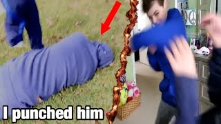 Download PUNCHING MY CREEPY STALKER FAN IN THE FACE! *KNOCKED OUT* Video