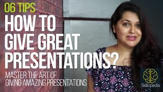 Download 06 tips to give 'Amazing & Great presentations at work - Improve your presentation skills Video