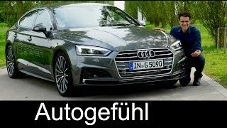 Download Audi A5 FULL REVIEW Sportback g-tron test s-line all-new neu 2018 - Autogefühl Video