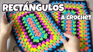 Download RECTÁNGULO tejido a crochet paso a paso - para Colchas y tapetes Video