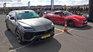 Download Lamborghini Urus vs Nissan GT-R R35 - DRAG RACE! Video