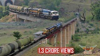 Download NOTCHED UP EMD MULTIPLE UNIT Crosses BRIDGES and TUNNELS | BTPN Tankers | Indian Railways Video