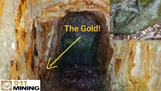 Download High Grade Gold Left In Old Mines & Finding Loads Of Vuggy Quartz Veins Video