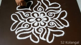 Download easy freehand rangoli designs - freehand muggulu for sankranthi - freehand kolam Video