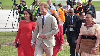 Download Duke and Duchess of Sussex arrival to the Kingdom of Tonga Video