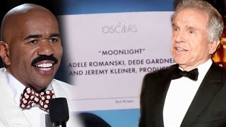 Download Steve Harvey Reacts to Oscars Best Picture Flub: 'I Can Help Warren Beatty Through This' Video