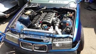 Download BMW E36 325i M50 Turbo First Startup RHD Video