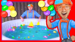 Download Boats for Kids with Blippi | Learn Colors in the Hot Tub Video