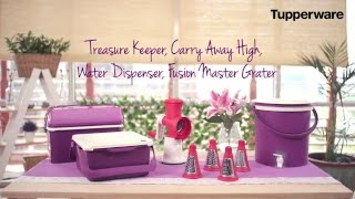 Download Tupperware Treasure Keeper, Carry Away High, Water Dispenser, Fusion Master Grater - SFA Mei 2016 Video